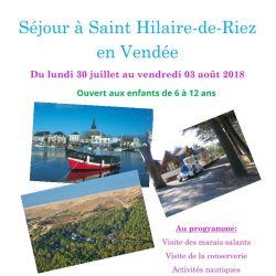 Séjour Saint-Hilaire de Riez
